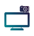 computer monitor with camera web gadget vector image