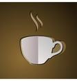 cup coffee coffee logo vector image