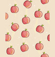 cute hand drawn red apples pattern vector image