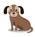 dog pet mascot isolated icon vector image vector image