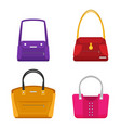 Fashion bags set isolated flat design