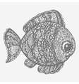 Fish in paisley mehndi doodle style vector image vector image