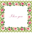 Floral Background with Vintage Label vector image vector image