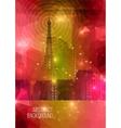 Flyer or Cover Design Cityscape Silhouette vector image
