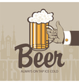 glass beer vector image vector image