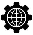 Global Options Flat Icon vector image