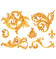 golden baroque rich luxury elements