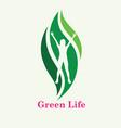 green life logo vector image vector image