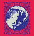Grunge surfer vector image vector image