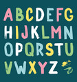 hand-drawn alphabet calligraphy font modern brush vector image