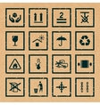 Handling and packing symbols vector image vector image