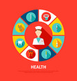 health concept icons vector image