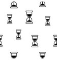 hourglass seamless background vector image vector image
