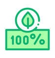 hundred percent icon outline vector image