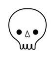 line skull danger symbol to caution alert vector image vector image