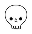 line skull danger symbol to caution alert vector image vector image
