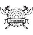 Lumber Shop Label Design Elements vector image vector image
