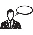 Men with a Speech Bubble Icon vector image vector image