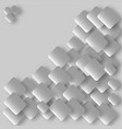 metallic square elements on grey background vector image vector image
