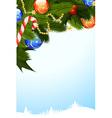 mistletoe christmas card vector image vector image