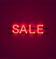 neon signboard text sale vector image vector image