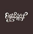 oktoberfest logo handwritten lettering for vector image vector image