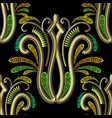 ornate gold 3d greek style paisley seamless vector image vector image