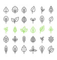 outline leaves isolated icon set vector image vector image