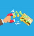 phishing money concept virus spam vector image vector image