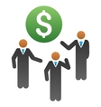 Price Discussion Gradient Icon vector image
