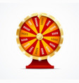 realistic 3d detailed casino fortune wheel vector image vector image