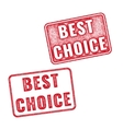 Realistic Best Choice stamps isolated vector image