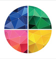 red green yellow and blue geometric vector image vector image