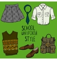 School uniform set vector image