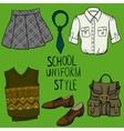 School uniform set vector image vector image