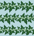 seamless pattern with ivy leaves vector image vector image