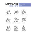 senior people line design style icons set vector image vector image