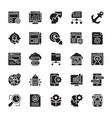 seo and web optimization glyph icons 1 vector image vector image