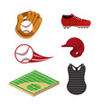 set baseball sport uniform and professional vector image