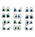 Set of cartoon eyes showing various expression vector image vector image
