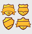 Set of gold retro badges vector image