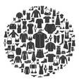 Set of Women s and Men s Clothing icons vector image vector image