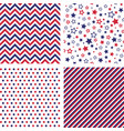 set us style seamless patterns vector image vector image