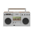 stereo radio cassette recorder flat desing vector image