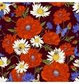 summer vintage floral seamless pattern vector image vector image