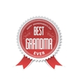 The best grandma - badge with ribbon vector image