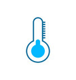 thermometer silhouette weather icon flat vector image