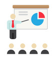 training presentation flat icon business vector image vector image