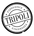 Tripoli stamp rubber grunge vector image vector image