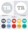 Turkish language sign icon TR translation vector image vector image